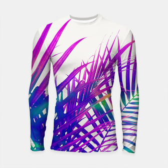 Thumbnail image of Colorful Palm Longsleeve rashguard , Live Heroes