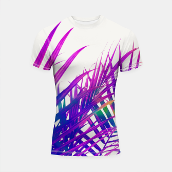 Thumbnail image of Colorful Palm Shortsleeve rashguard, Live Heroes