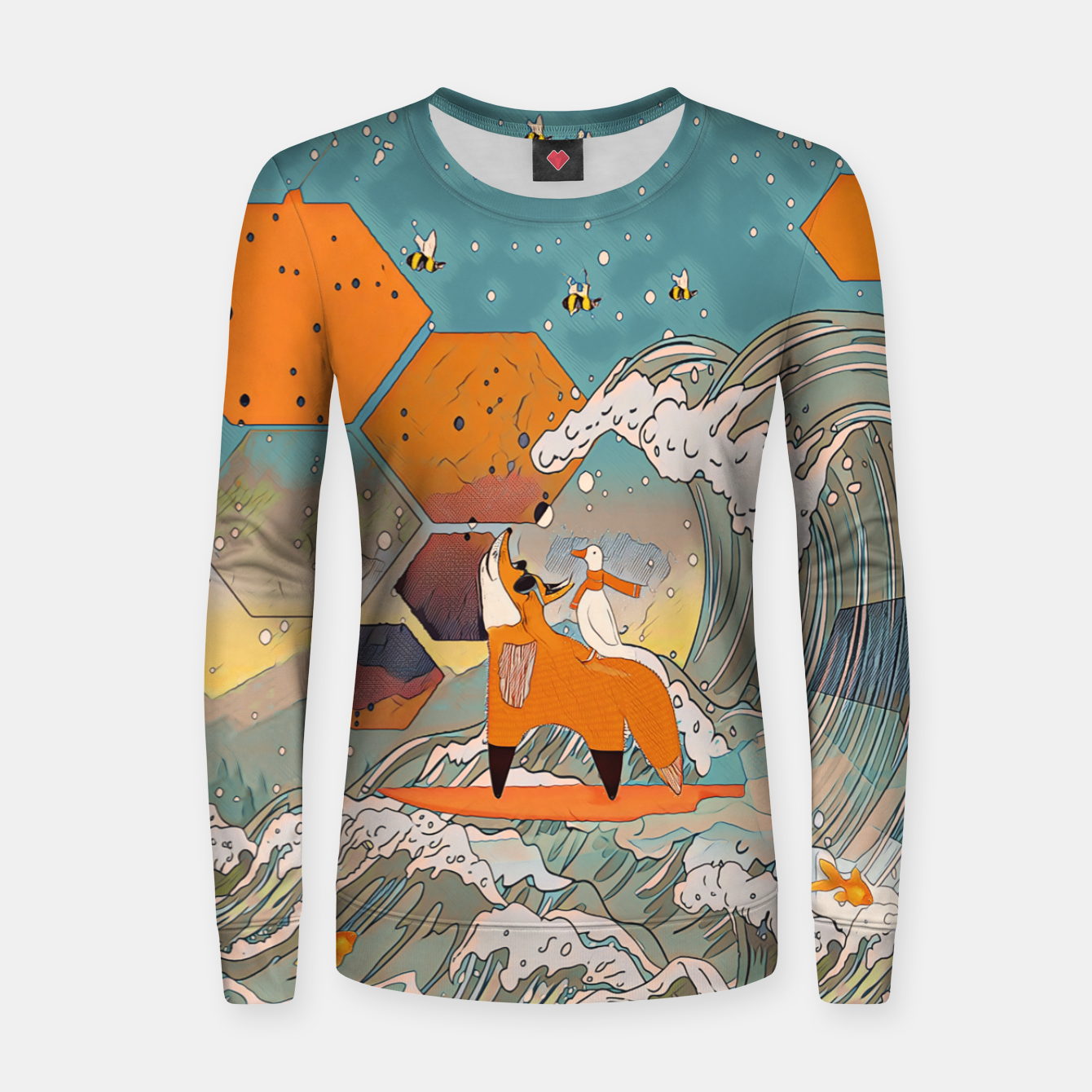 Image of The fox and the duck Women sweater - Live Heroes