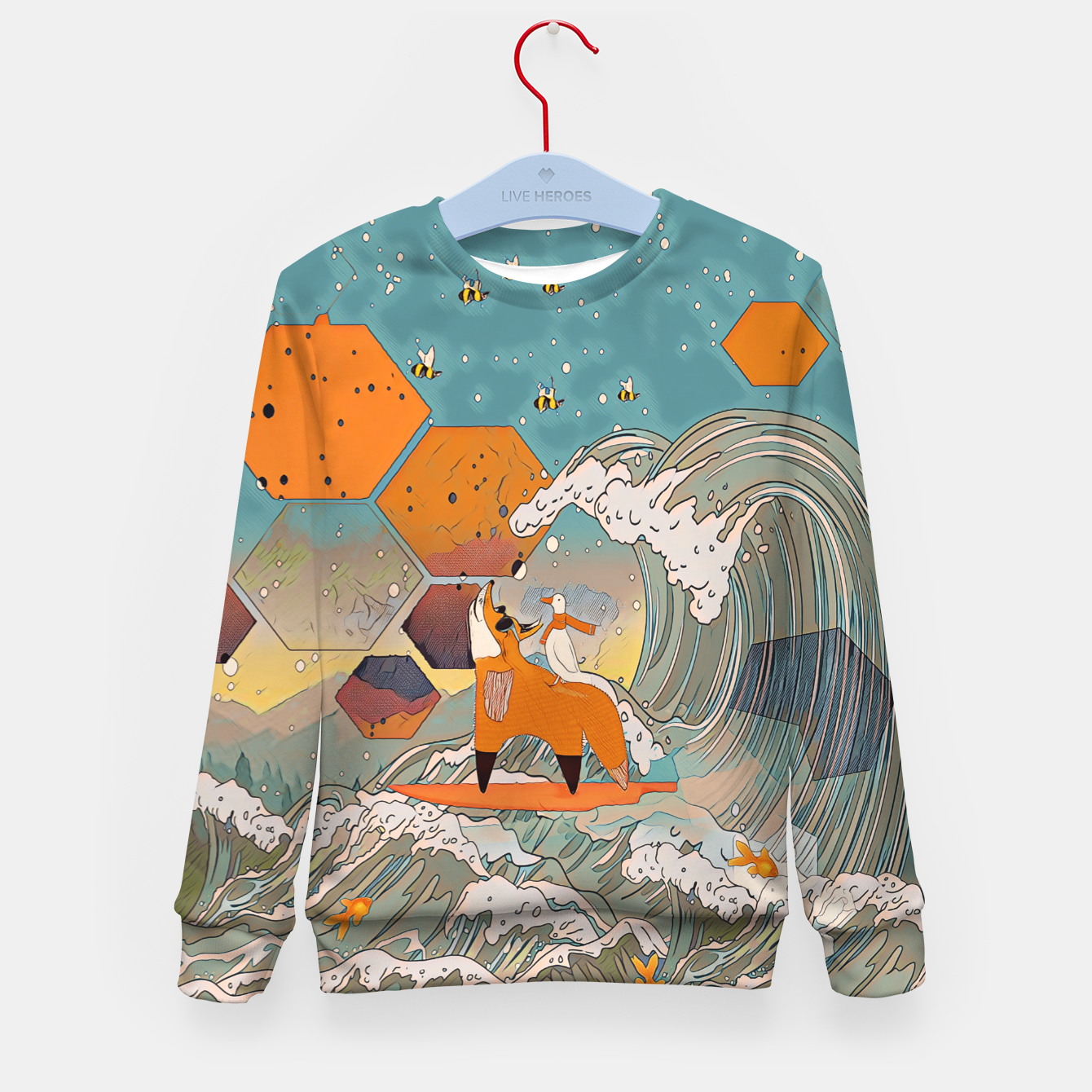 Image of The fox and the duck Kid's sweater - Live Heroes