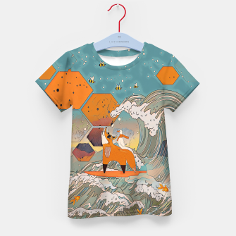 Miniaturka The fox and the duck Kid's t-shirt, Live Heroes