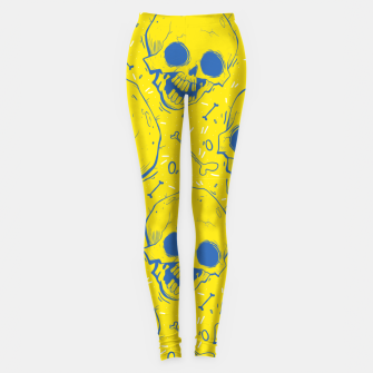 Miniaturka Yellow Skulls Leggings, Live Heroes