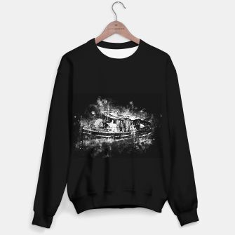 Miniature de image de old ship boat wreck ws bw Sweater regular, Live Heroes