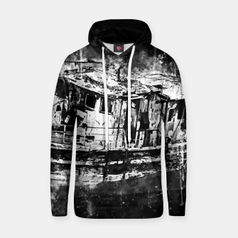 Thumbnail image of old ship boat wreck ws bw Hoodie, Live Heroes
