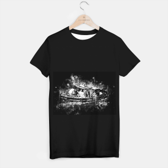 Miniaturka old ship boat wreck ws bw T-shirt regular, Live Heroes