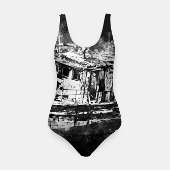 Miniaturka old ship boat wreck ws bw Swimsuit, Live Heroes