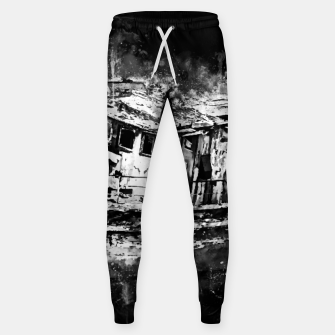 Miniatur old ship boat wreck ws bw Sweatpants, Live Heroes