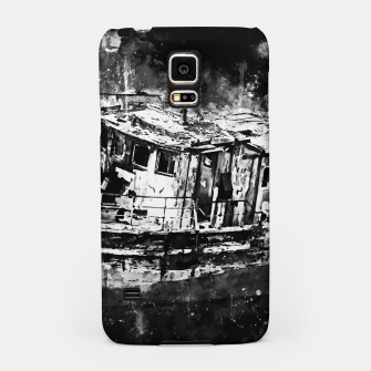 Miniaturka old ship boat wreck ws bw Samsung Case, Live Heroes