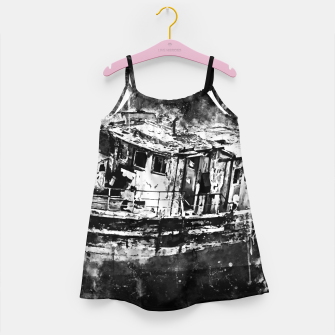 Imagen en miniatura de old ship boat wreck ws bw Girl's dress, Live Heroes