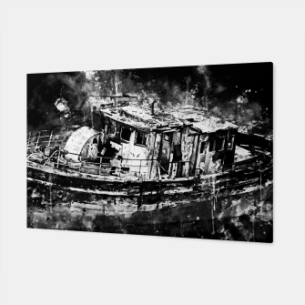 Miniaturka old ship boat wreck ws bw Canvas, Live Heroes