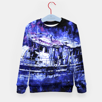 Thumbnail image of old ship boat wreck ws db Kid's sweater, Live Heroes