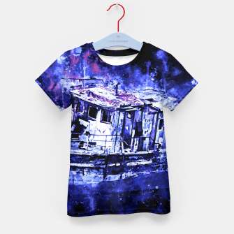 Miniatur old ship boat wreck ws db Kid's t-shirt, Live Heroes