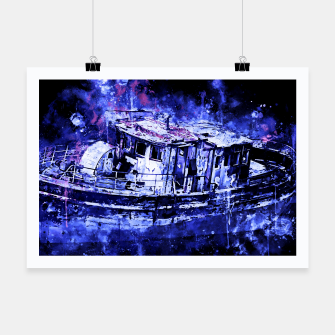 Miniatur old ship boat wreck ws db Poster, Live Heroes