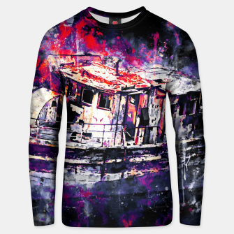 Thumbnail image of old ship boat wreck ws fn Unisex sweater, Live Heroes