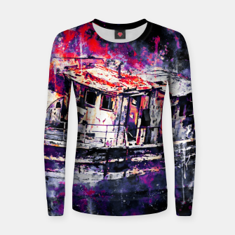 Thumbnail image of old ship boat wreck ws fn Women sweater, Live Heroes