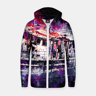 Thumbnail image of old ship boat wreck ws fn Zip up hoodie, Live Heroes