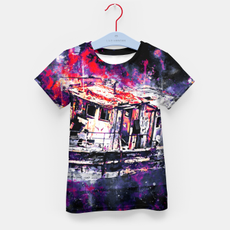 Thumbnail image of old ship boat wreck ws fn Kid's t-shirt, Live Heroes