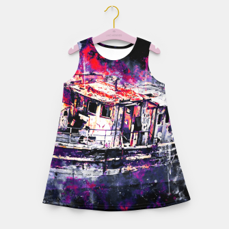 Thumbnail image of old ship boat wreck ws fn Girl's summer dress, Live Heroes