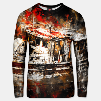 Thumbnail image of old ship boat wreck ws std Unisex sweater, Live Heroes