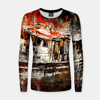Thumbnail image of old ship boat wreck ws std Women sweater, Live Heroes