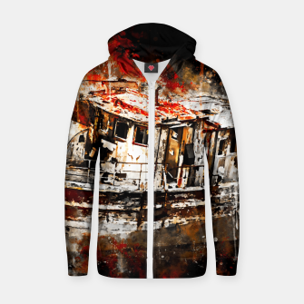 Thumbnail image of old ship boat wreck ws std Zip up hoodie, Live Heroes