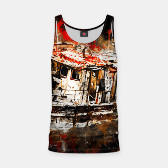 Thumbnail image of old ship boat wreck ws std Tank Top, Live Heroes