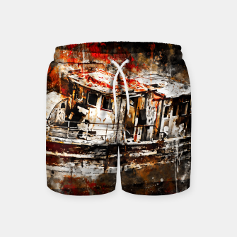 Thumbnail image of old ship boat wreck ws std Swim Shorts, Live Heroes
