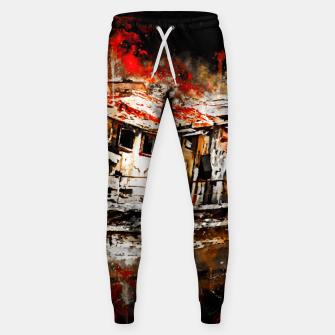 Miniatur old ship boat wreck ws std Sweatpants, Live Heroes