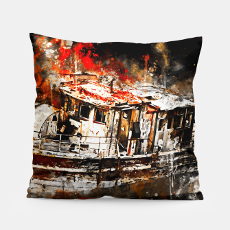 Thumbnail image of old ship boat wreck ws std Pillow, Live Heroes