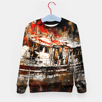 Thumbnail image of old ship boat wreck ws std Kid's sweater, Live Heroes