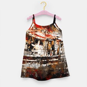 Imagen en miniatura de old ship boat wreck ws std Girl's dress, Live Heroes