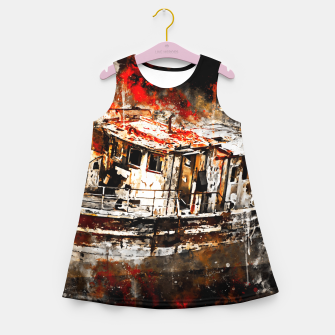 Thumbnail image of old ship boat wreck ws std Girl's summer dress, Live Heroes