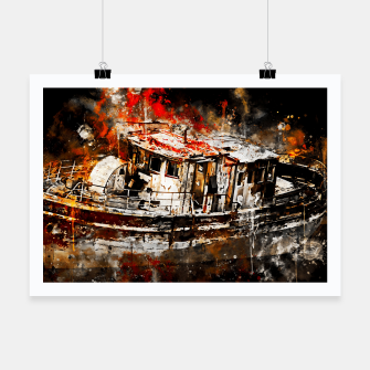 Thumbnail image of old ship boat wreck ws std Poster, Live Heroes