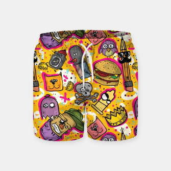 Thumbnail image of Hipster Life Swim Shorts, Live Heroes