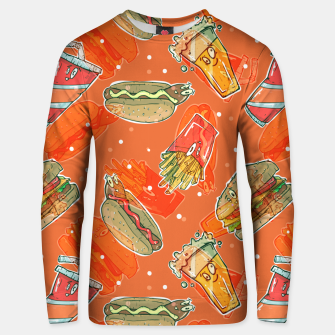 Thumbnail image of Junk Foodie Unisex sweater, Live Heroes