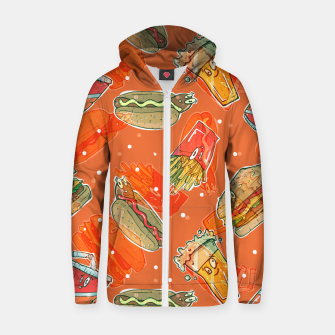 Thumbnail image of Junk Foodie Zip up hoodie, Live Heroes
