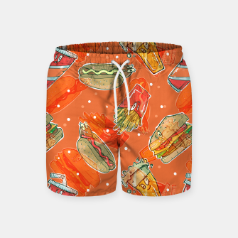 Thumbnail image of Junk Foodie Swim Shorts, Live Heroes