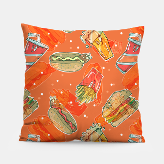 Thumbnail image of Junk Foodie Pillow, Live Heroes