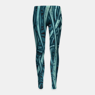 Thumbnail image of green Leggings para niña, Live Heroes