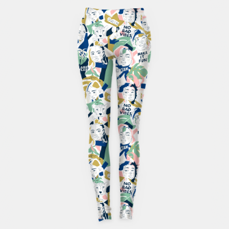 Thumbnail image of Positive feminine mind Leggings, Live Heroes