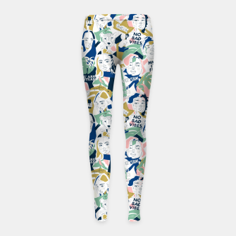 Thumbnail image of Positive feminine mind Leggings para niña, Live Heroes