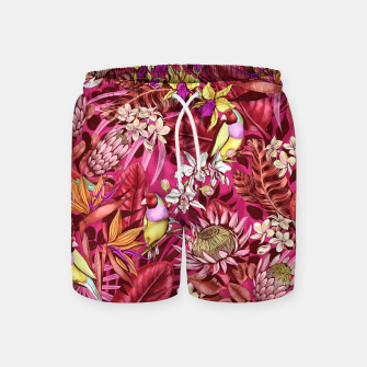 Thumbnail image of Red Birds Swim Shorts, Live Heroes