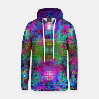 Thumbnail image of Invoking Reptilian Light (abstract, blue) Hoodie, Live Heroes