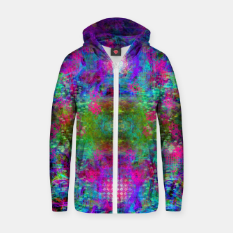 Miniaturka Invoking Reptilian Light (abstract, blue) Zip up hoodie, Live Heroes