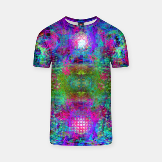 Miniaturka Invoking Reptilian Light (abstract, blue) T-shirt, Live Heroes