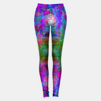 Miniaturka Invoking Reptilian Light (abstract, blue) Leggings, Live Heroes