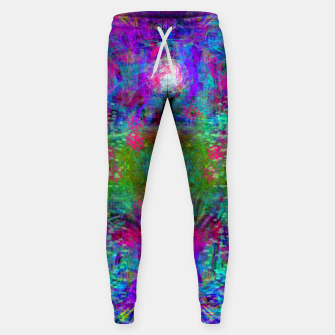 Thumbnail image of Invoking Reptilian Light (abstract, blue) Sweatpants, Live Heroes