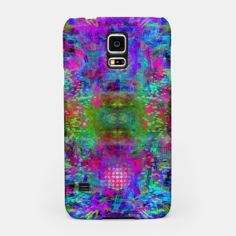 Miniaturka Invoking Reptilian Light (abstract, blue) Samsung Case, Live Heroes