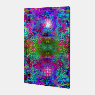Miniaturka Invoking Reptilian Light (abstract, blue) Canvas, Live Heroes