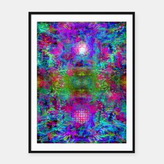 Miniature de image de Invoking Reptilian Light (abstract, blue) Framed poster, Live Heroes